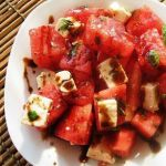 Арбузный салат с фетой