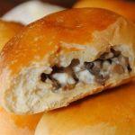 Пирожки с фетой и грибами