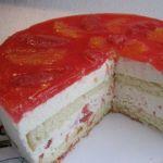 Творожный торт со вкусом грейпфрута