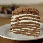 Блинный шоколадный-сливочный торт