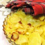 Картофель с луком и сливочным маслом