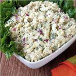 Картофельный салат с красным луком