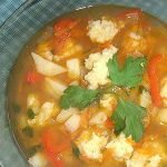 Суп с галушками по-кубански