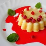 Творожный пудинг ванильно-мятный с сиропом