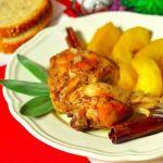 Курица с яблоками и шалфеем