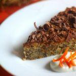 Пирог с фундуком, рикоттой и маком