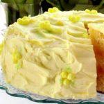 Трехслойный лимонный торт