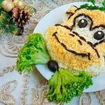 Салат из риса с рыбными консервами